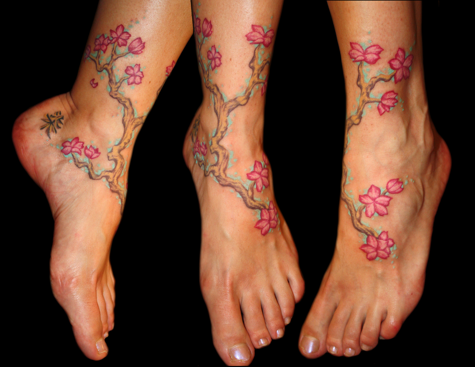 Cherry Blossom Tattoo Leg Baxter's tattoo blog