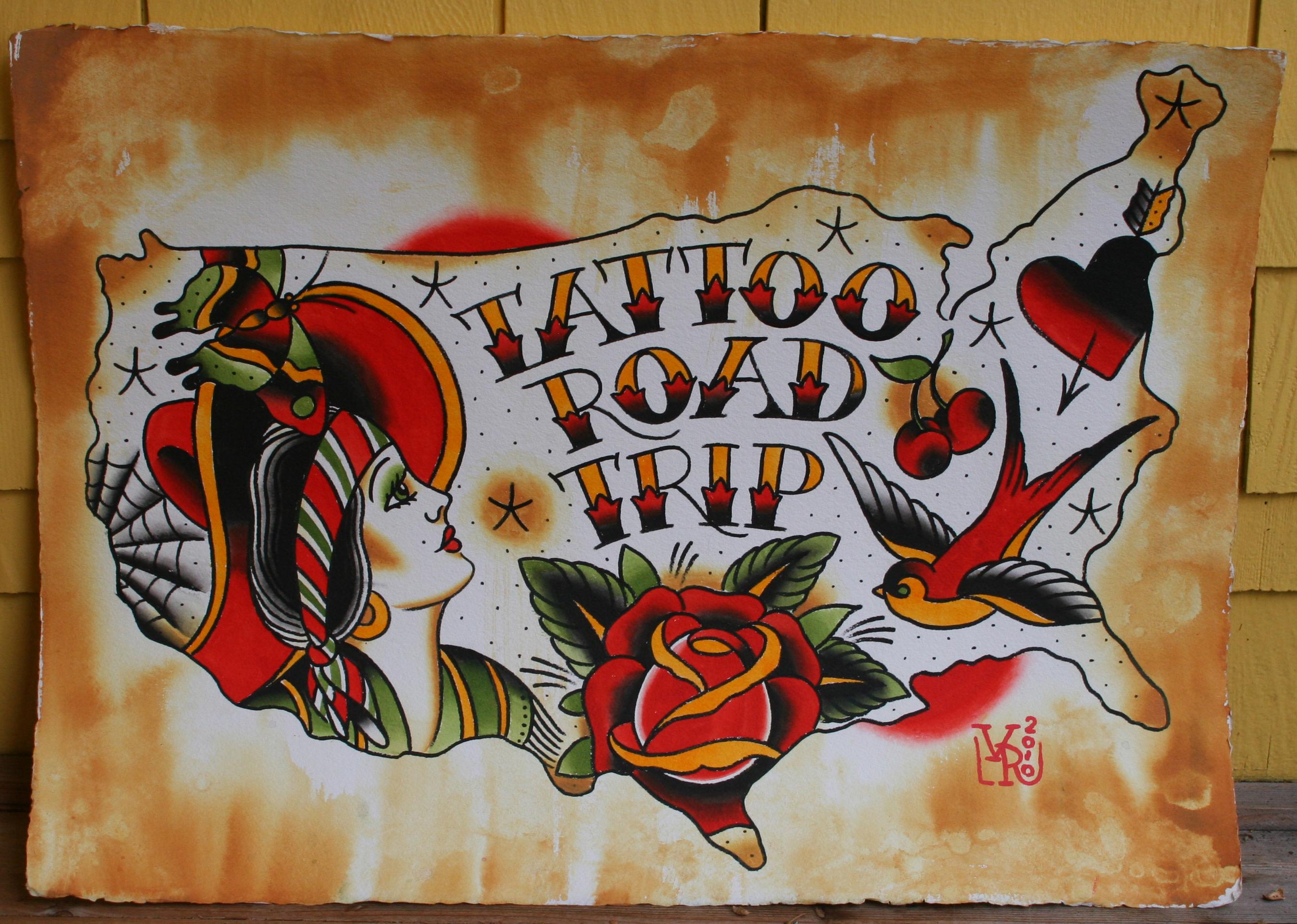letters van tattoos
